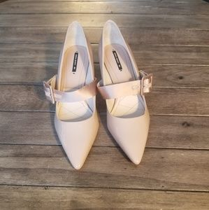 NWOT Zara Nude Patent Mary Jane Classic Pumps